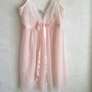 Diane Samandi Luxurious Tulle Babydoll Nightgown